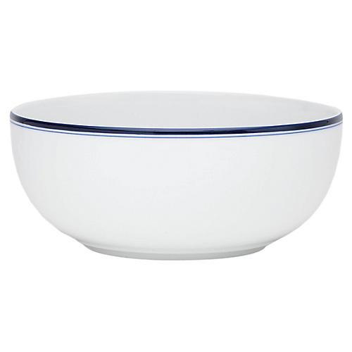 Bistro Christianshavn Serving Bowl, Blue/White