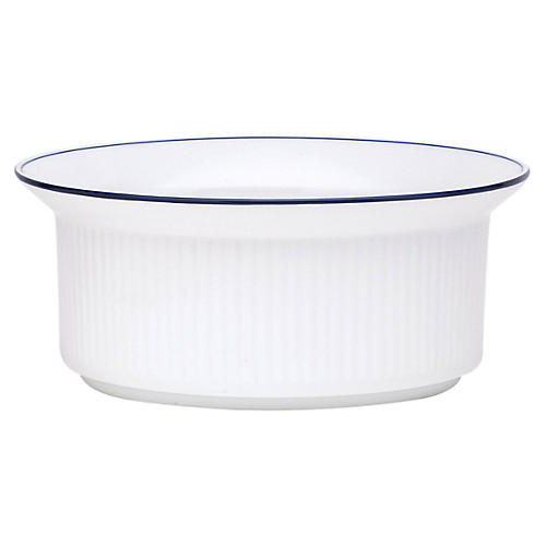 Bistro Christianshavn Serving Bowl, White/Blue