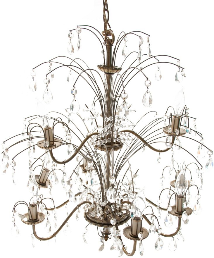 Wire Crystal Chandelier