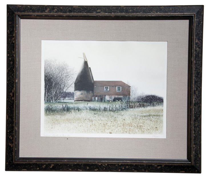 Framed Print, Dutch Barn