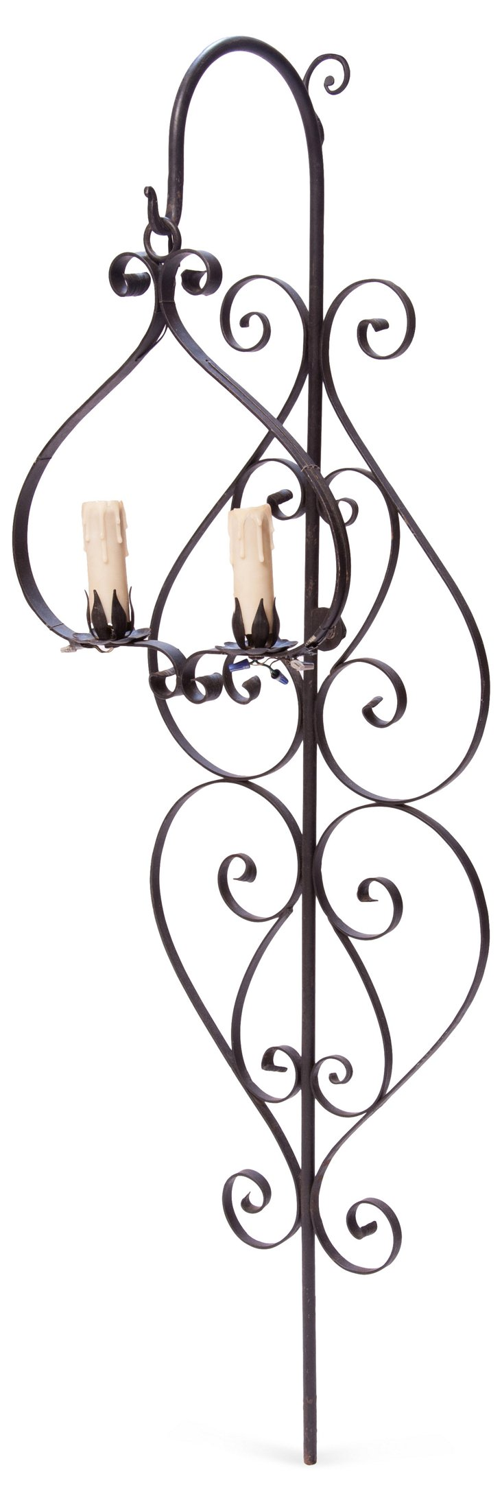 Iron Scrolled Wall Sconce
