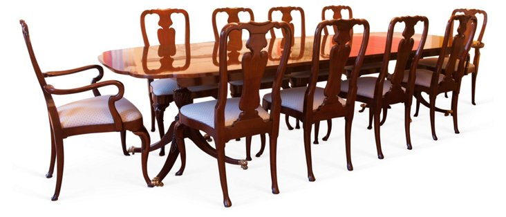 Kindle Dining Table w/ 10 Chairs