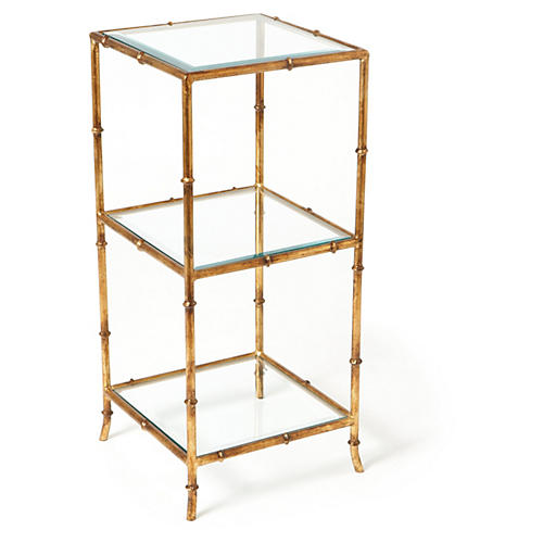 Kenmore Side Table, Gold