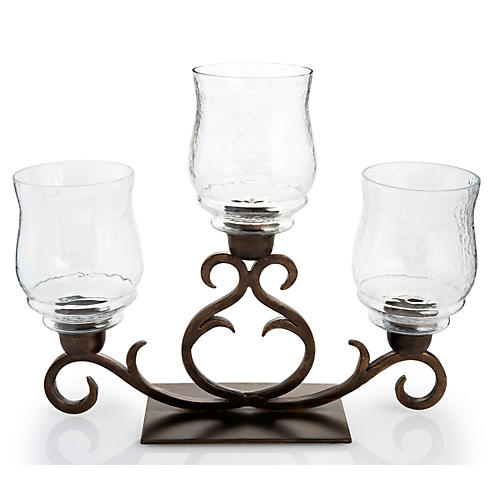 "19"" Flare Scroll Hurricane, Bronze"