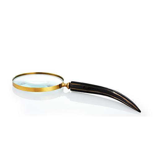 """15"""" Magnifying Glass, Horn/Brass"""