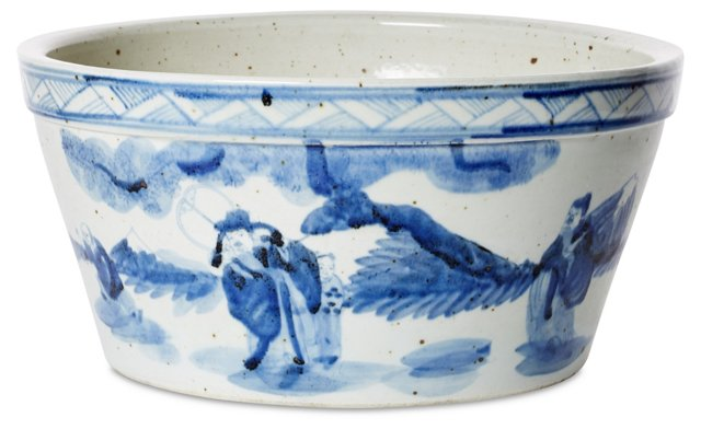 "15"" Traditional Chinoiserie Cachepot"
