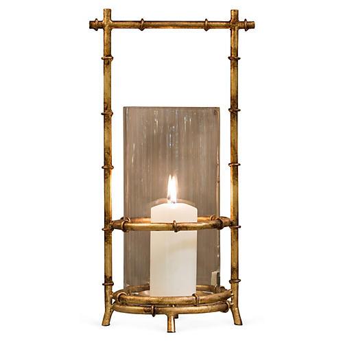 "20"" Bamboo-Style Iron Hurricane, Gold"