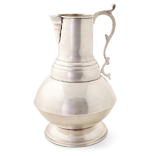 "14"" Decorative Vase, Silver"