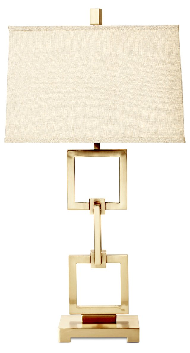 Helia Table Lamp, Antiqued Brass