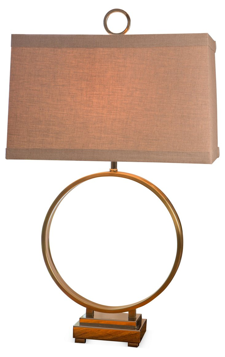Prescott Table Lamp, Brass