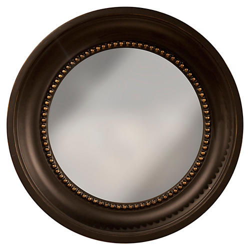 "Colonial 16"" Accent Mirror, Black/Gold"