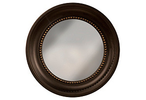 Colonial Round Mirror, Black/Gold