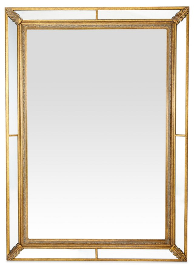 Acanthus Wall Mirror, Antiqued Gold