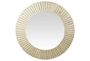 Sunburst Round Mirror, Antiqued Gold*