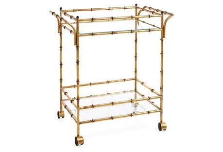 Constantine Bar Cart, Gold