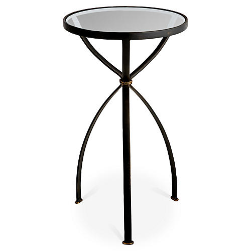 Heathrow Round Side Table, Bronze