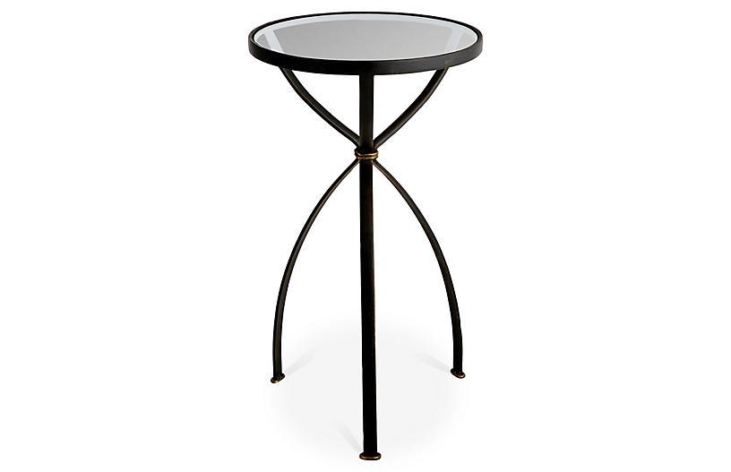 Heathrow Round Side Table, Bronze