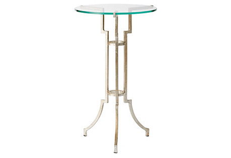 Glassgow Tripod Table, Antiqued Silver