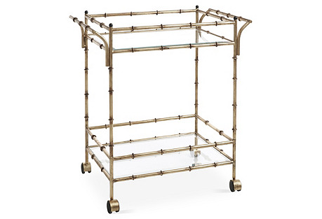 Constantine Bar Cart, Silver