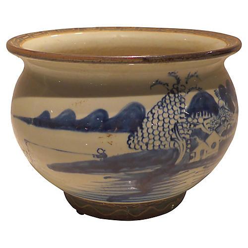 """9"""" Brion Decorative Bowl, Blue/Beige"""