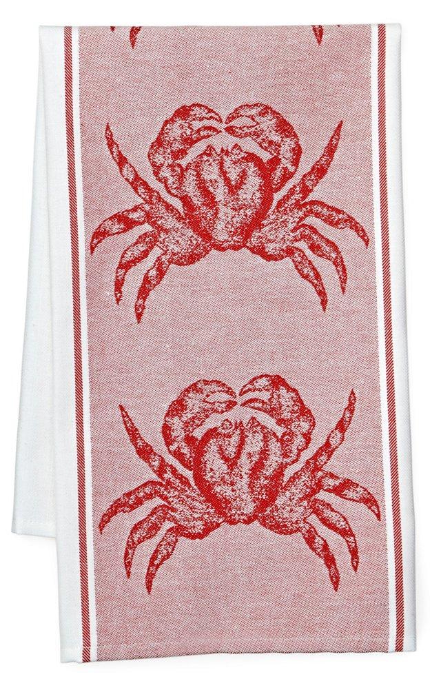 S/2 Crab Kitchen Towels