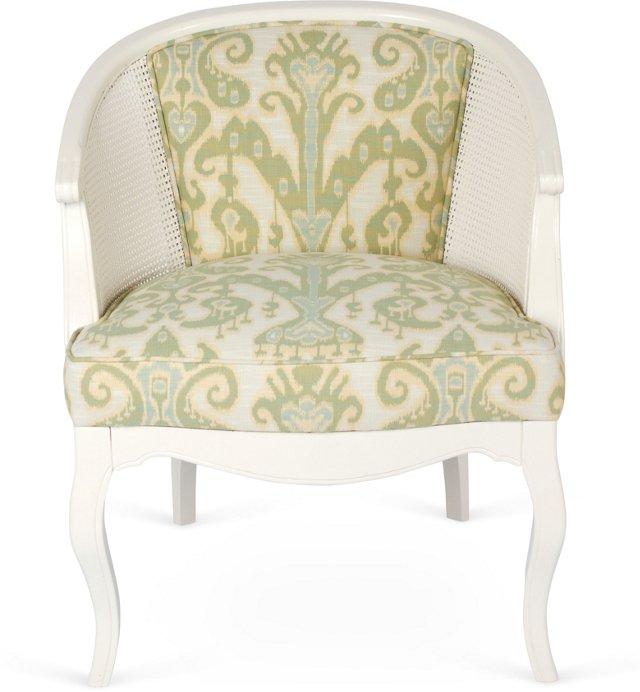 White Cane Bucket Chair