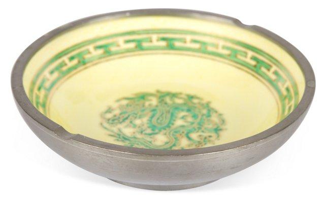 Yellow & Green Dragon Trinket Dish