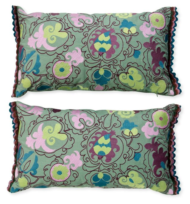 Cotton Pillows, Pair