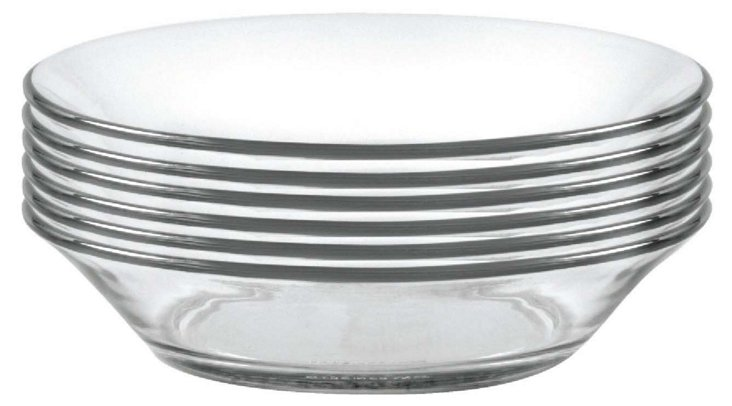 S/6 Lys Kids Dinner Plates, Clear