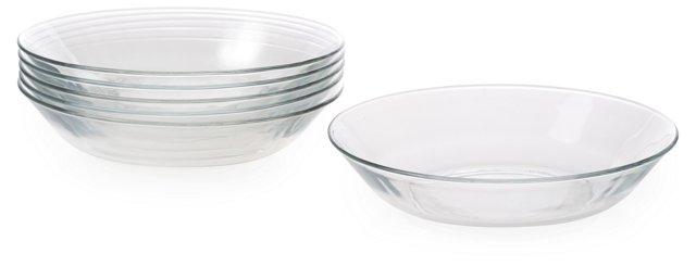 S/6 Lys Calotte Pasta Plates