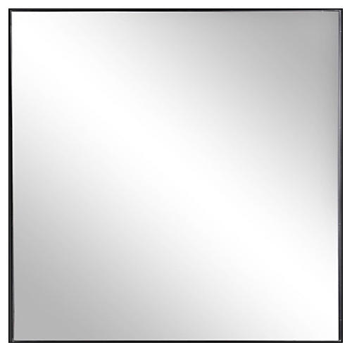 Exton Square Wall Mirror, Black