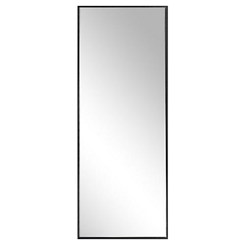 Exton Floor Mirror, Black