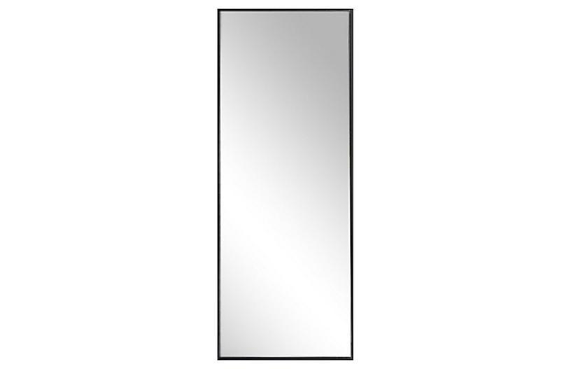 Exton Floor Mirror, Black