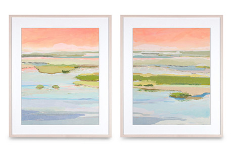 Karin Olah, March Blush Diptych