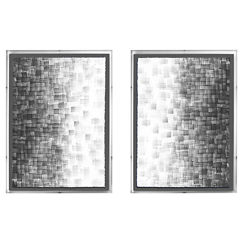 Ayelet Iontef, Gray Fade Diptych