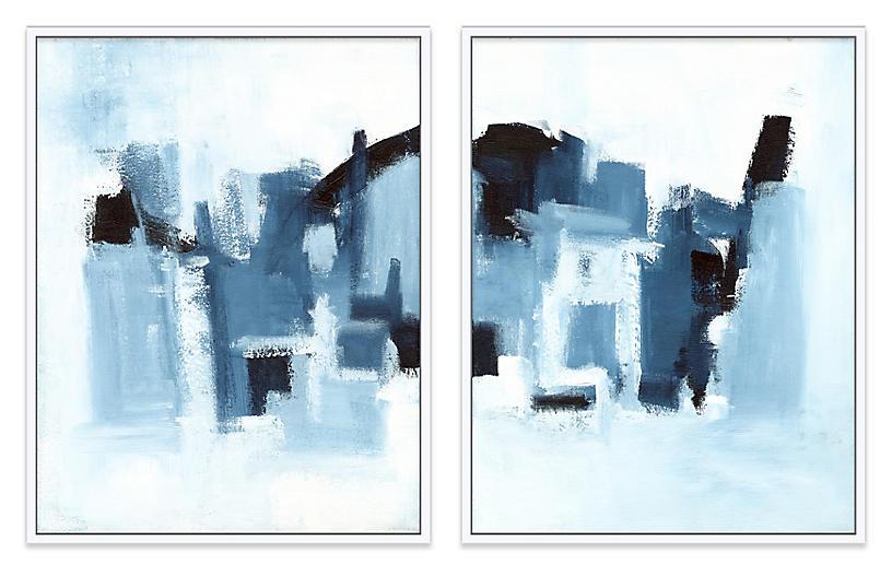 Ilana Greenberg, Landscape Diptych