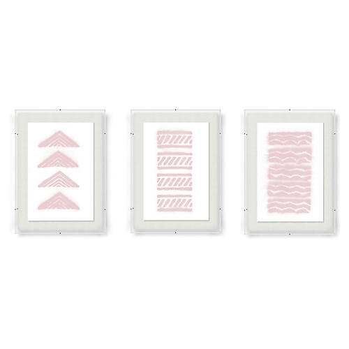 Abstract Triptych-Rose, Adrienne Wong