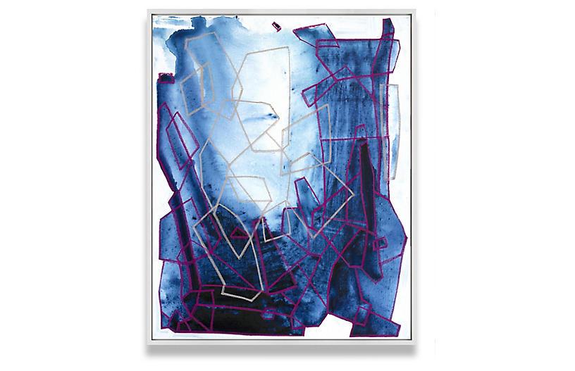 Linda Colletta, Tetrahedron in Blue