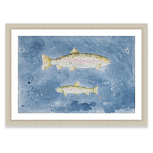 Rainbow Trout Duo, Laura Roebuck