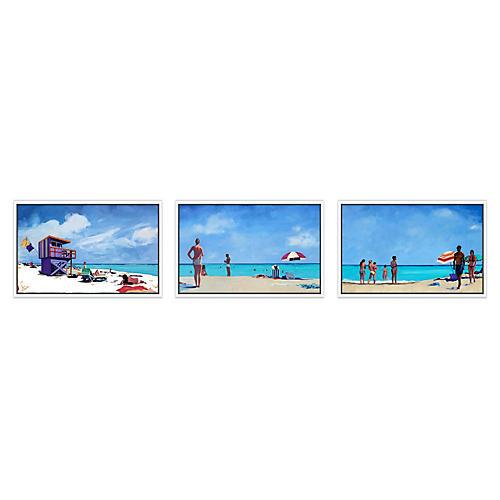 Beach Day Triptych, T.S. Harris
