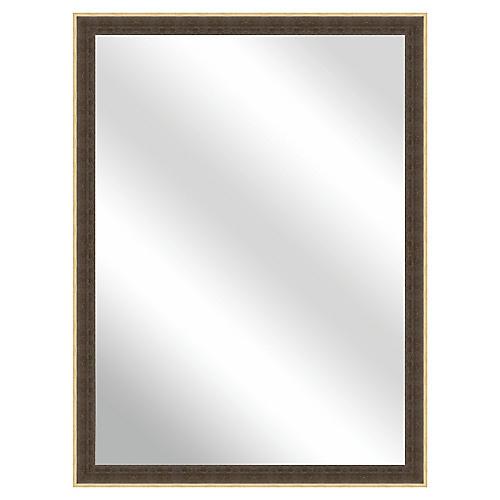 Haylie Wall Mirror, Brown/Gold