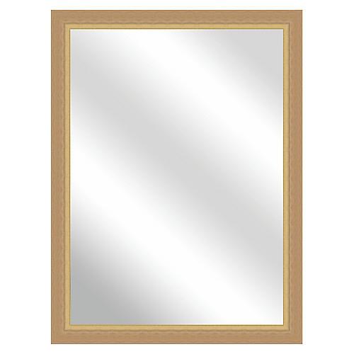 Kallie Wall Mirror, Natural/Gold