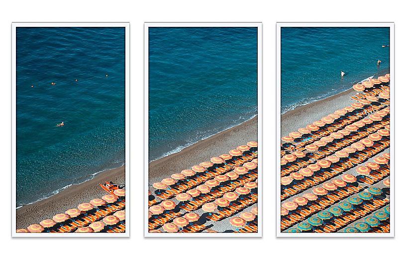 Natalie Obradovich, Fornillo Umbrellas Triptych