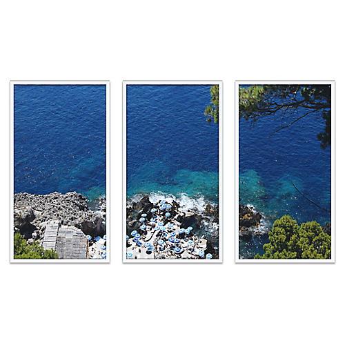 Fontelina Cliffside Triptych Photograph