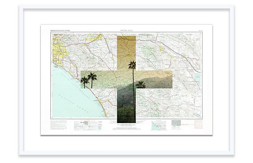 Santa Ana Map Christine Flynn Map - White