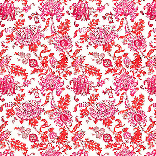 S/10 Roller Rabbit, Pink Amanda Gift Wrap Sheets
