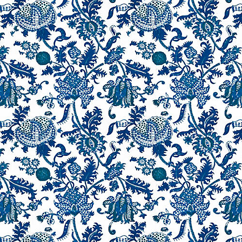 S/10 Roller Rabbit, Blue Amanda Gift Wrap Sheets