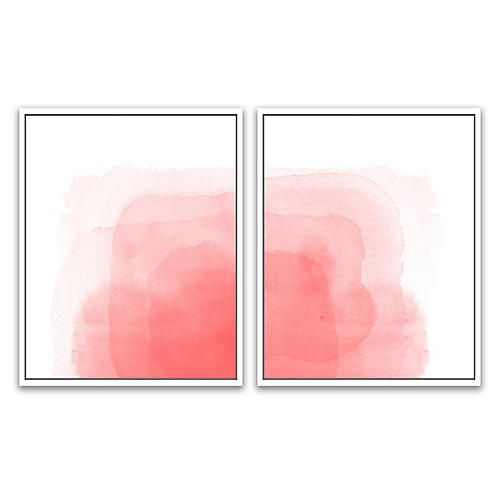 Rose All Day Diptych, Jennifer Latimer