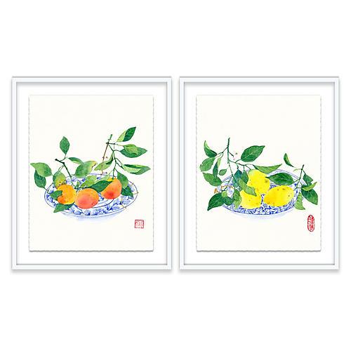 Clementines & Lemons Diptych, Gabby Malpas