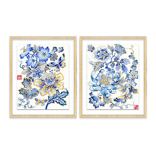 Fantasy Floral Diptych, Gabby Malpas